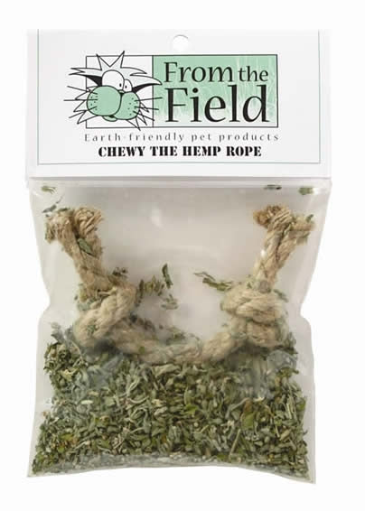 From the Field Chewy the Hemp Rope Cat Toy with Fresh Organic Catnip