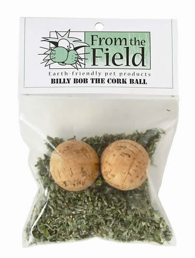 From the Field Billy Bob the Cork Ball Cat Toy with Fresh Organic Catnip
