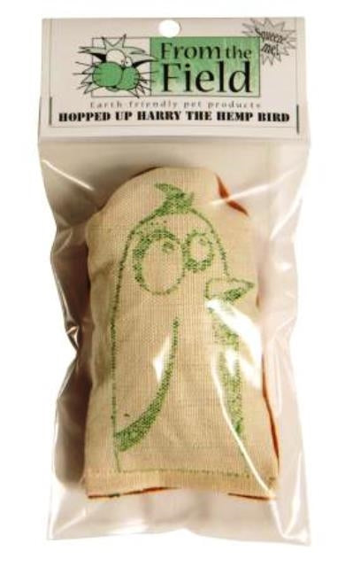 From The Field Hopped Up Harry The Hemp Bird Cat Toy
