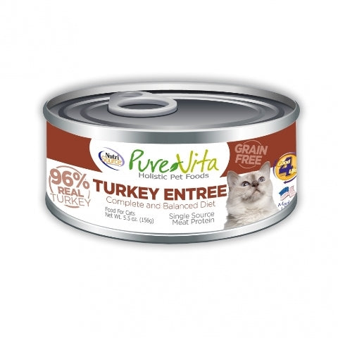 NutriSource Pure Vita Turkey Entree Cat Food - 5.5 oz.