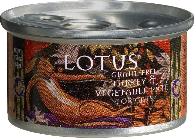 LOTUS Grain Free Turkey & Vegetable Pate for Cats - 2.75 oz.