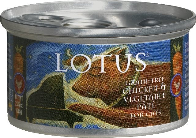 LOTUS Grain Free Chicken & Vegetable Pate for Cats - 2.75 oz.