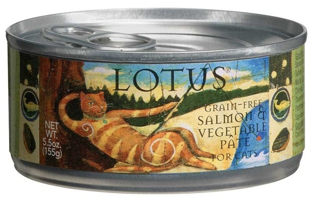 LOTUS Grain Free Salmon & Vegetable Pate for Cats - 5.5 oz.