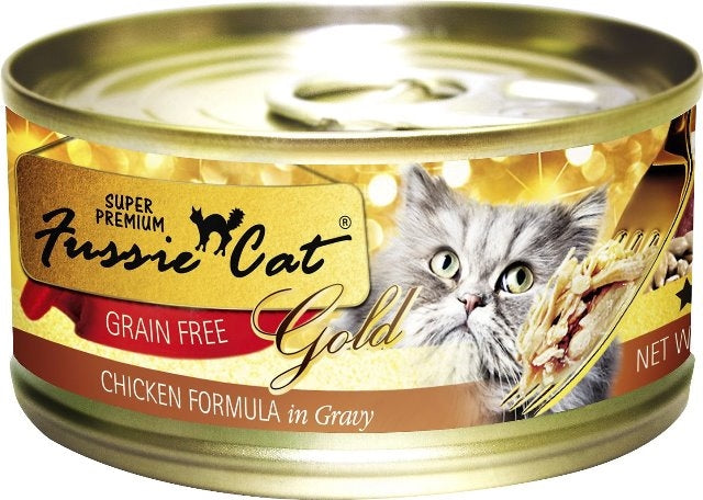 Fussie Cat Super Premium Grain Free Gold Chicken Formula in Gravy - 2.82 oz.