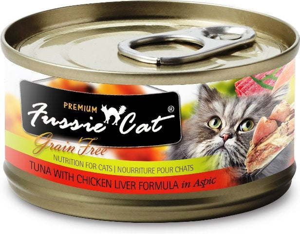 Fussie Cat Premium Grain Free Tuna with Chicken Liver - 2.82 oz.