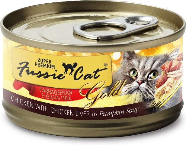 Fussie Cat Super Premium Grain Free Gold Chicken with Chicken Liver - 2.82 oz.