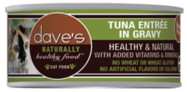 Dave's Naturally Healthy Grain Free Tuna in Gravy Cat Food - 5.5 oz.