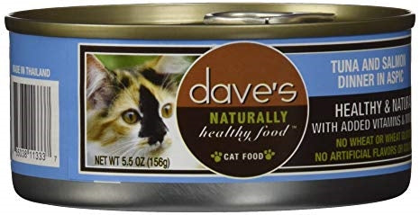 Dave's Naturally Healthy Grain Free Tuna & Salmon Dinner Cat Food - 5.5 oz.