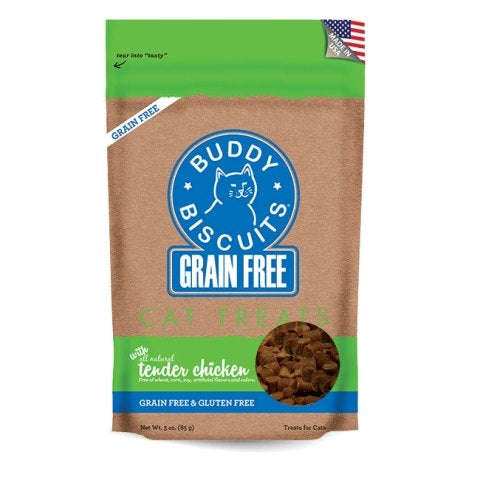 Buddy Biscuits Grain Free Tender Chicken Cat Treats - 3 oz.