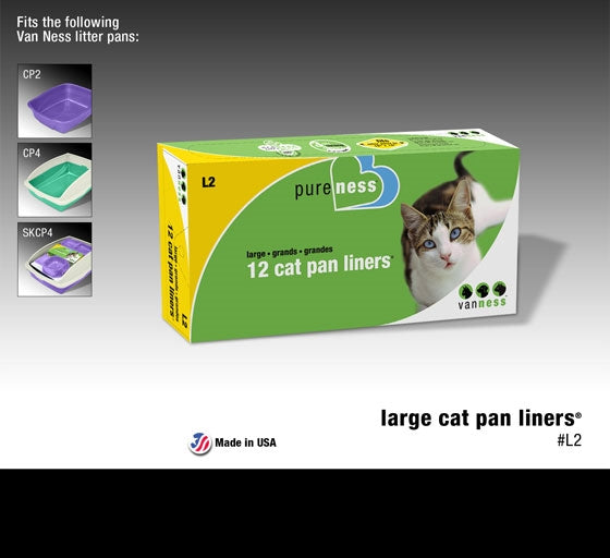 Vanness Pureness Large Cat Pan Liners - 12 Liners