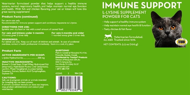 tomlyn Veterinary Sciense Immune Support for Cats - 3.5 oz.