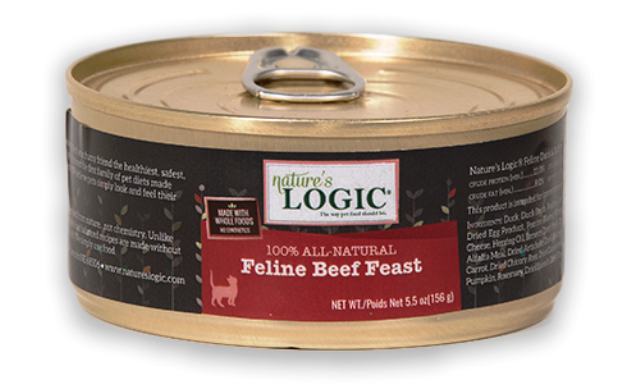Nature's Logic 100% All Natural Feline Beef Feast Cat Food - 5.5 oz