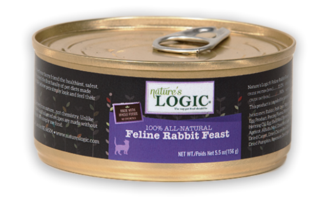 Nature's Logic 100% All Natural Feline Rabbit Feast Cat Food - 5.5 oz