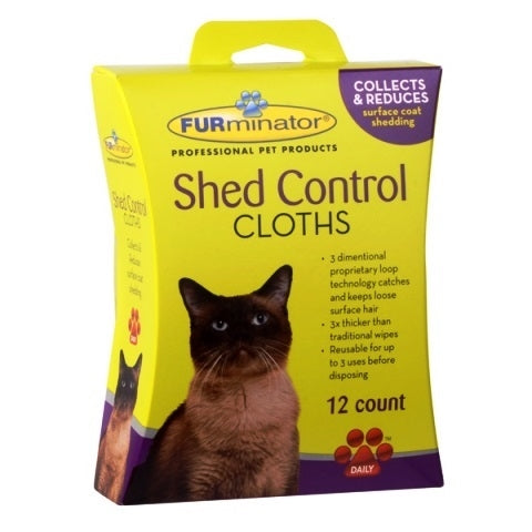 FURminator Shed Control Cloths for Cats - 12 count