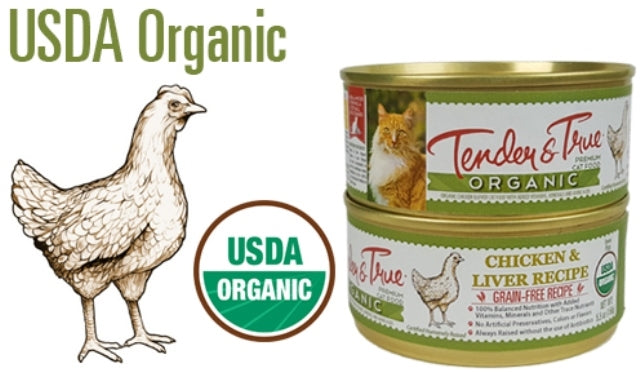 Tender & True Organic Chicken & Liver Cat Food - 5.5 oz.