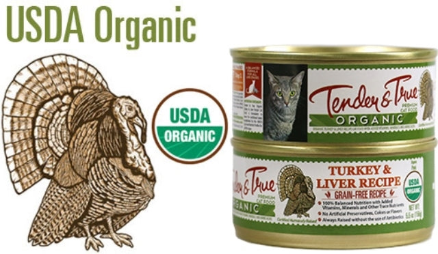 Tender & True Organic Turkey & Liver Cat Food - 5.5 oz.