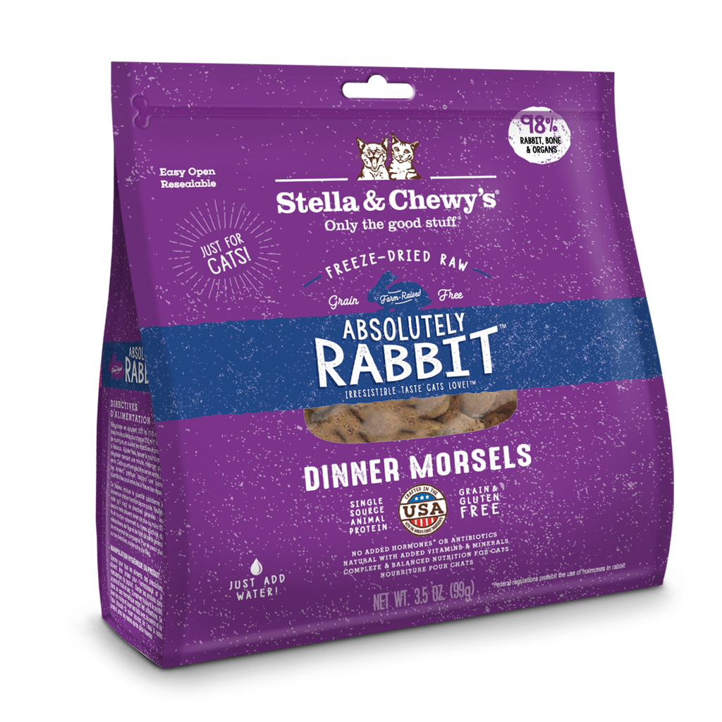 Stella & Chewy's Freeze Dried Absolutely Rabbit Dinner Morsels Cat Food