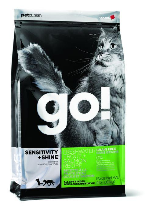Petcurean Go! Sensitivity and Shine Grain Free Freshwater Trout and Salmon Dry Cat Food