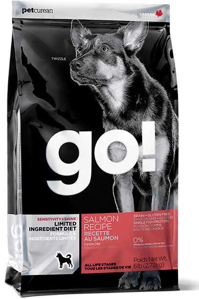 Petcurean Go! Sensitivity and Shine Limited Ingredient Salmon Recipe Dry Dog Food