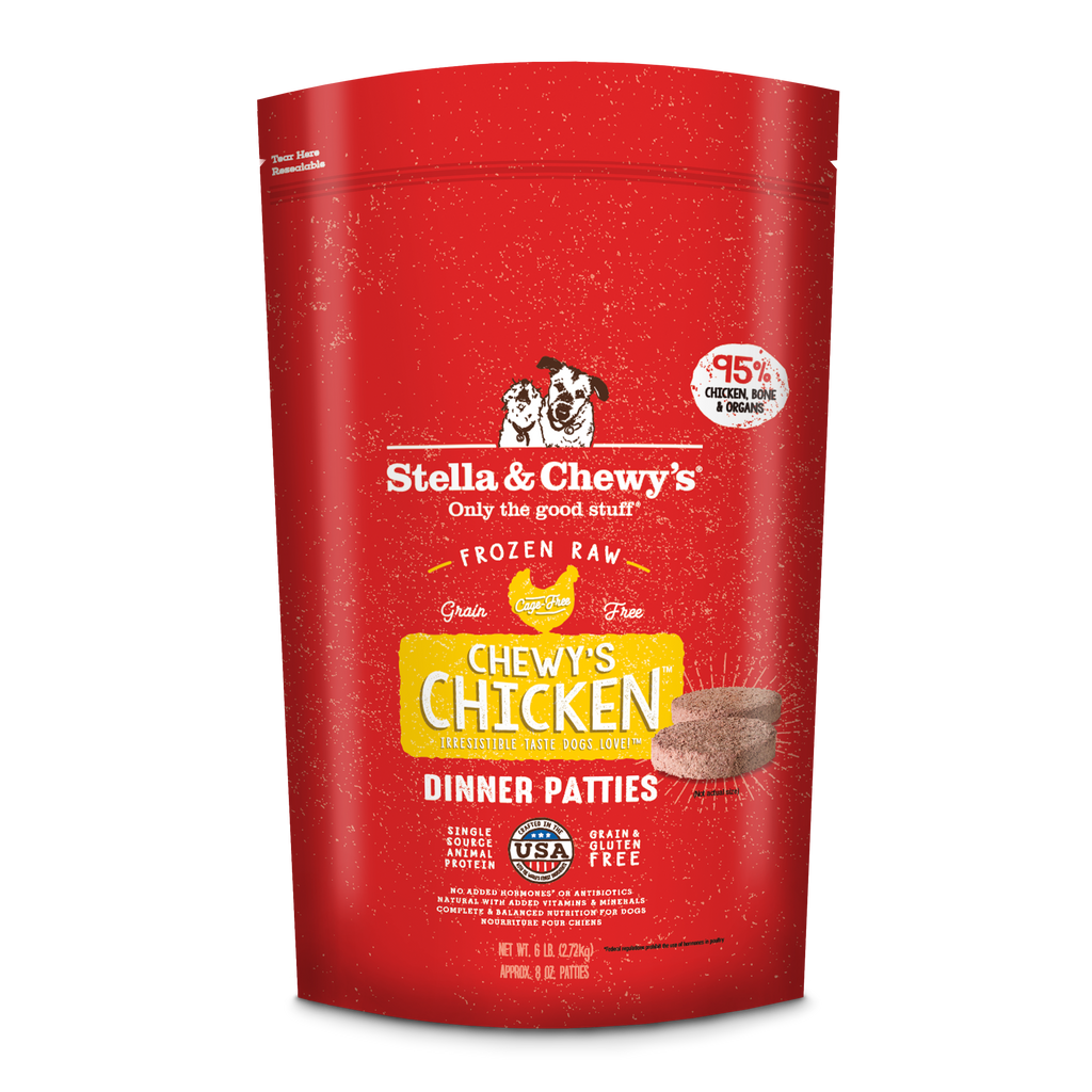 Stella & Chewy's Frozen Chicken Dinner Patties Dog Food - 6 lbs