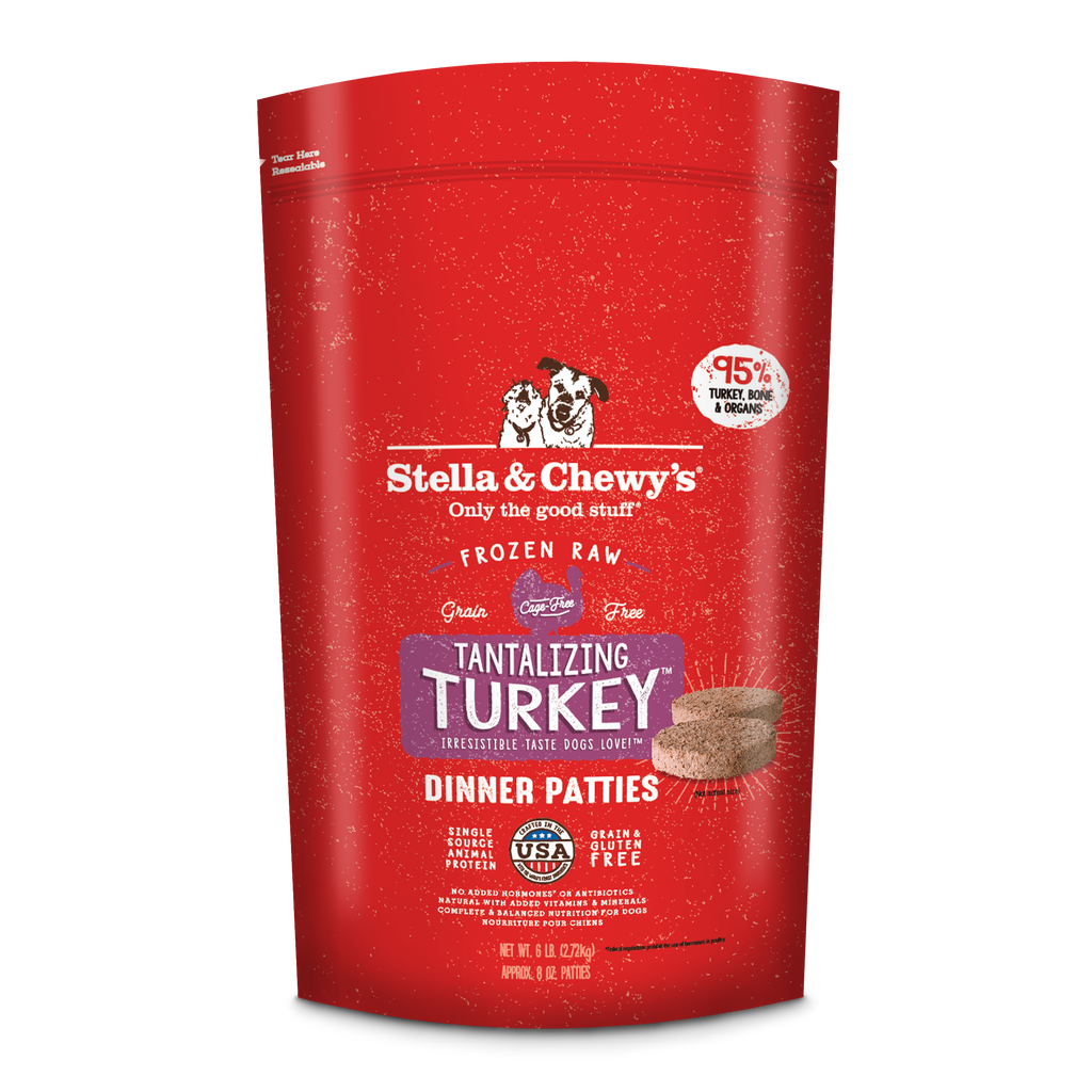 Stella & Chewy's Frozen Tantalizing Turkey Dinner Patties Dog Food - 6 lbs