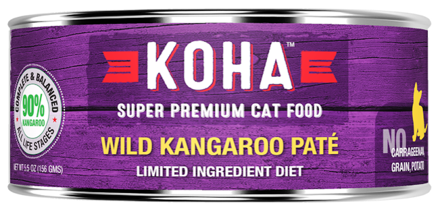 KOHA Limited Ingredient Diet Wild Kangaroo Pate Cat Food - 5.5 oz.