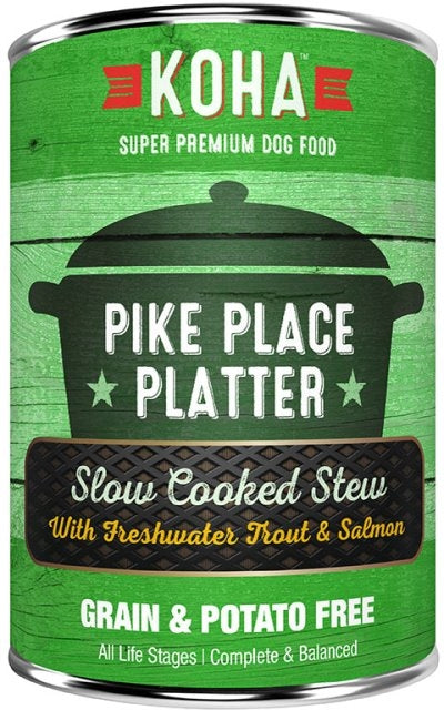 KOHA Pike Place Platter Slow Cooked Stew Dog Food - 12.7 oz.