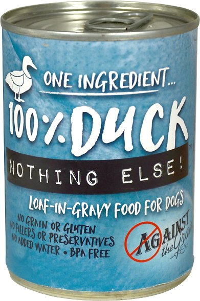 Against the Grain 100% Duck Nothing Else Dog Food -11 oz.