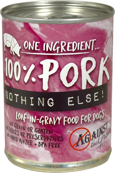 Against the Grain 100% Pork Nothing Else Dog Food -11 oz.