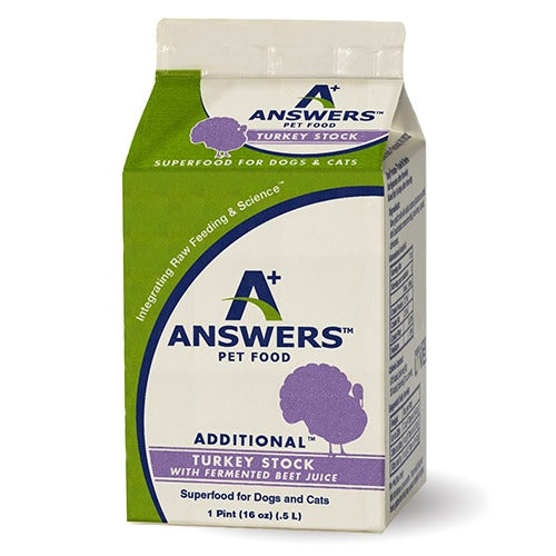 Answers Frozen Fermented Turkey Stock - 16 oz
