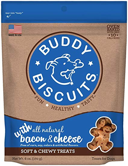 Buddy Biscuits Original Soft & Chewy Bacon & Cheese Treats for Dogs - 6 oz.