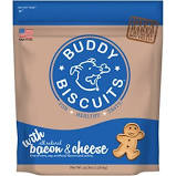 Buddy Biscuits Original Oven Baked Bacon & Cheese Treats for Dogs - 3.5 lb.