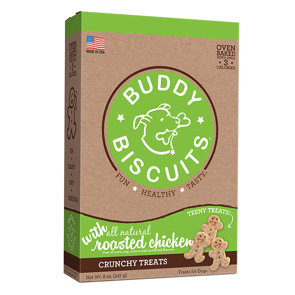 Buddy Biscuits Original Oven Baked Teeny Roasted Chicken Treats for Dogs - 8 oz.