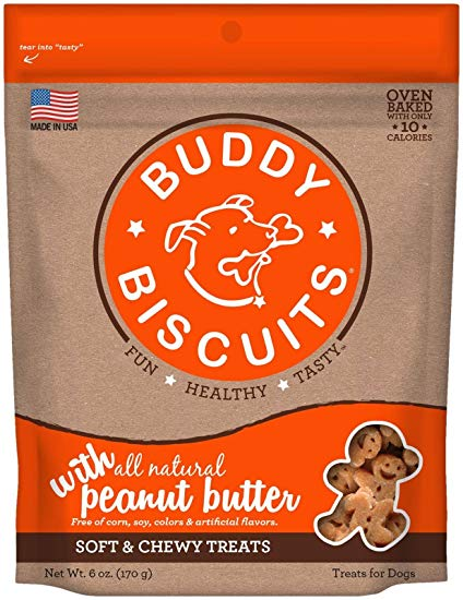 Buddy Biscuits Original Soft & Chewy Peanut Butter Treats for Dogs - 6 oz.