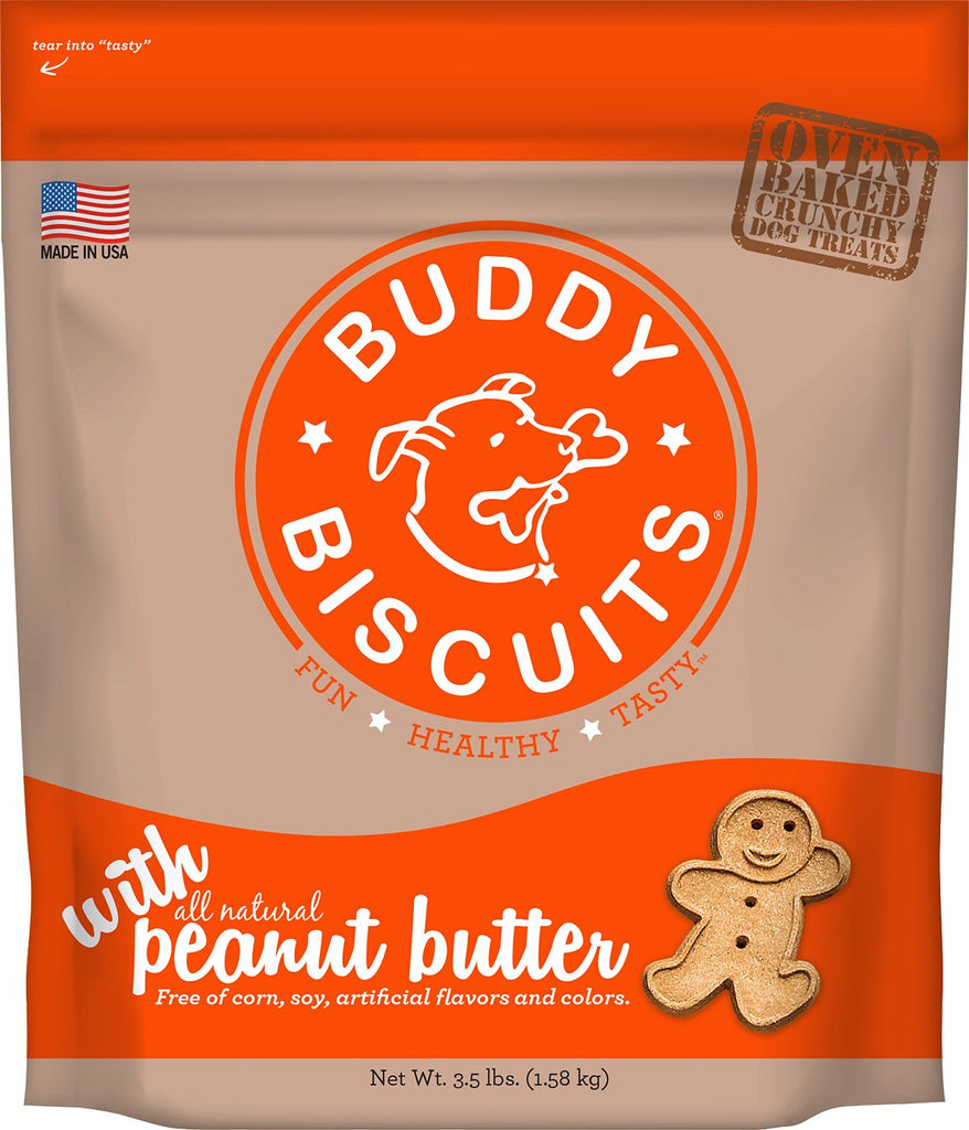 Buddy Biscuits Original Oven Baked Peanut Butter Treats for Dogs - 3.5 lb.