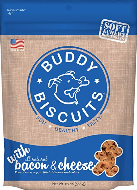 Buddy Biscuits Original Soft & Chewy Bacon & Cheese Treats for Dogs - 20 oz.