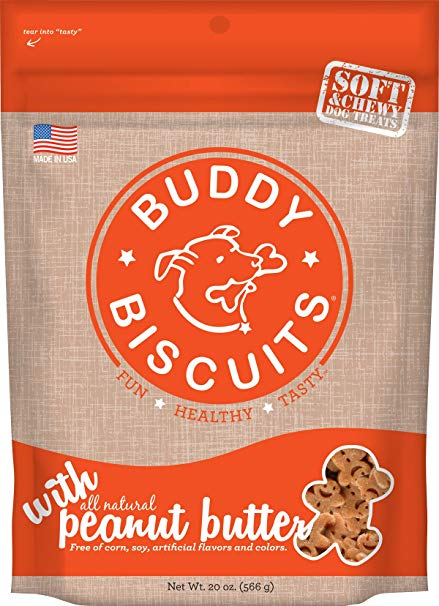 Buddy Biscuits Original Soft & Chewy Peanut Butter Treats for Dogs - 20 oz.
