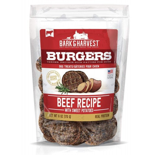 Superior Farms Bark & Harvest Beef Burgers with Sweet Potatoes Dog Treats - 6 oz