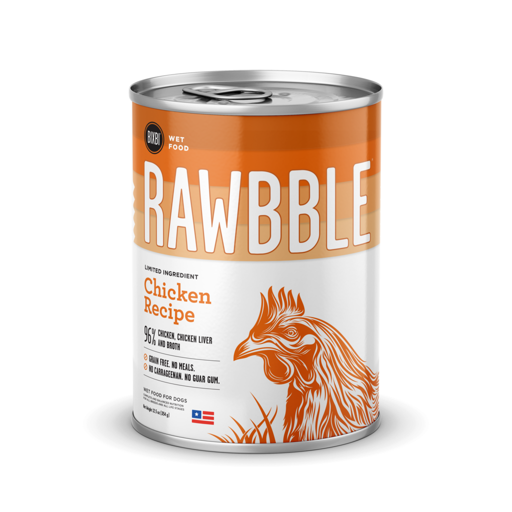 BIXBI RAWBBLE Chicken Wet Dog Food - 12.5 oz