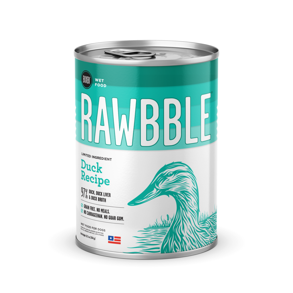 BIXBI RAWBBLE Duck Wet Dog Food - 12.5 oz