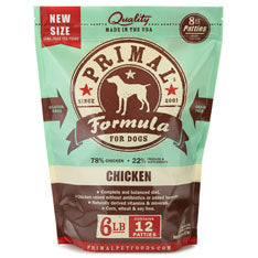 Primal Frozen Raw Canine Chicken Formula Patties Dog Food - 6 lbs