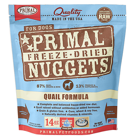 Primal Freeze Dried Nuggets Quail Formula Dog Food