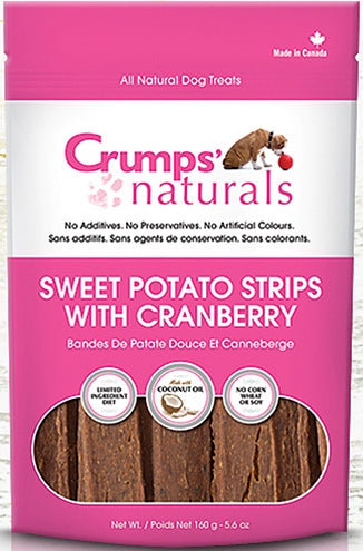 Crumps Naturals Sweet Potato Strips with Cranberry Dog Treats - 5.6 oz