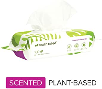 Earth Rated Lavender Scent Dog Wipes - 100 count