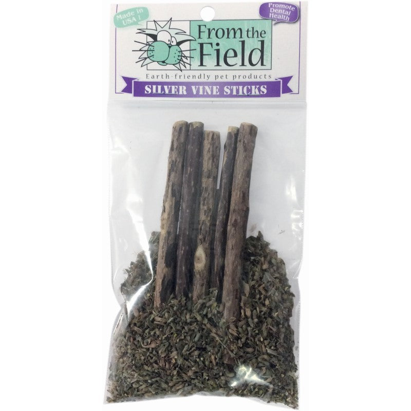 From the Field Silver Vine Sticks in Ultimate Blend Catnip