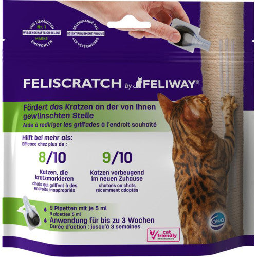 Feliway Feliscratch Scatching Post Drops - 9 pipettes