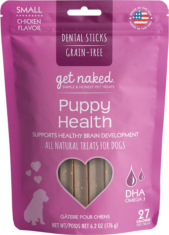 Get Naked Puppy Health Grain Free Small Dental Sticks Chicken Flavor - 6.2 oz
