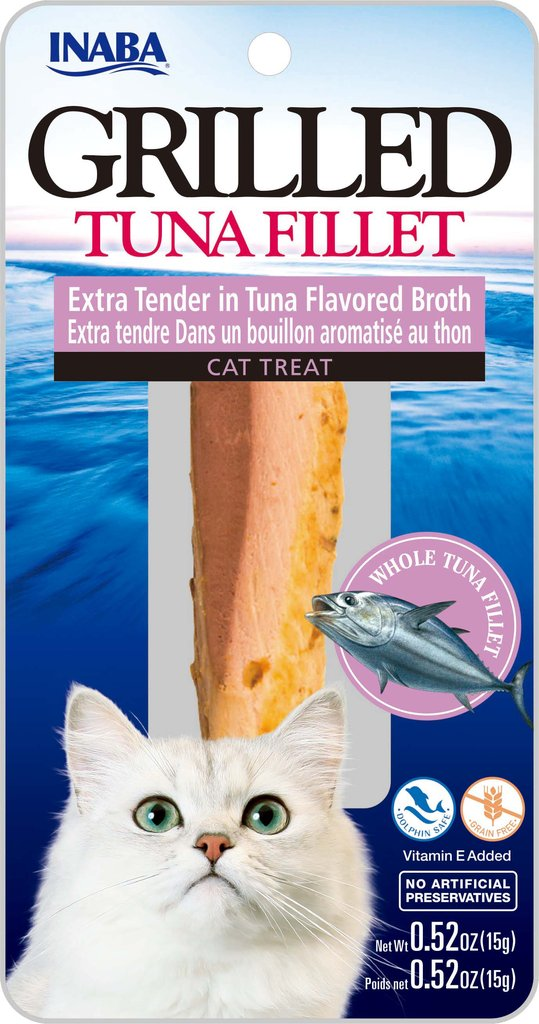 INABA Ciao Grilled Tuna Fillet Extra Tender in Tuna Flavored Broth Cat Treat - 0.52 oz