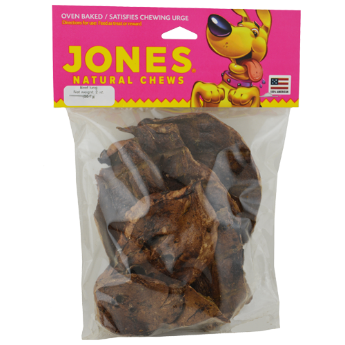 Jones Natural Chews Lamb Lung Puffs - 16 oz
