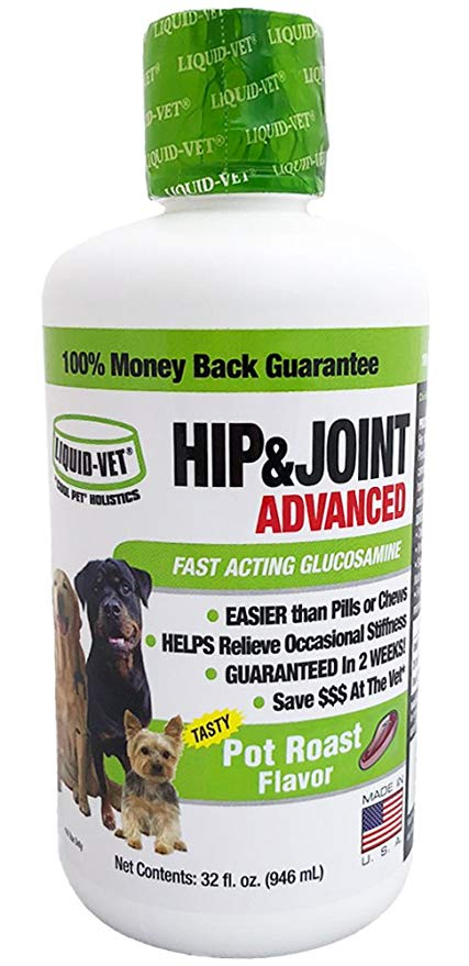 Liquid-Vet Hip & Joint Advanced Pot Roast Flavor